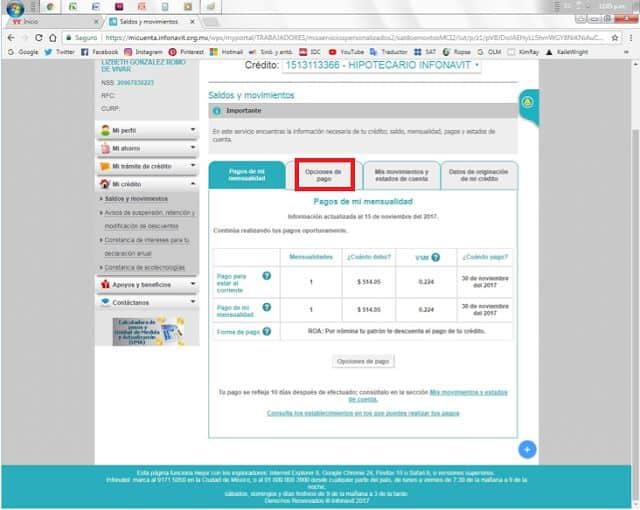 Paso 6 pago en línea Infonavit