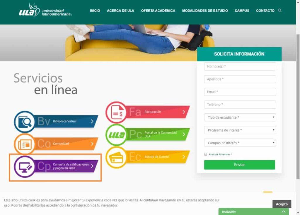 Pagos en línea ULA