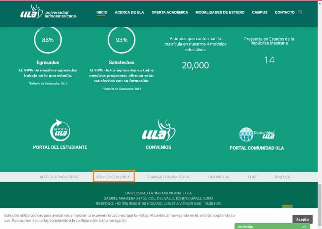 Servicios en línea ULA