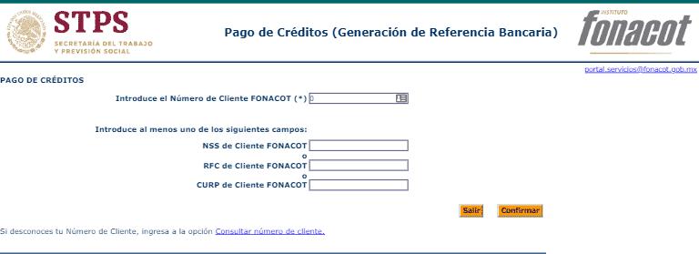 Pago en línea FONACOT