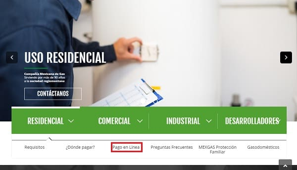 Pago en línea Mexicana de Gas