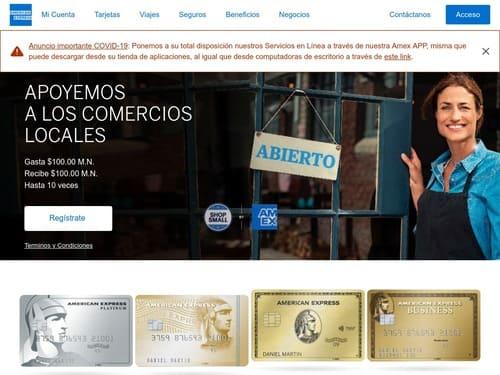 American Express web