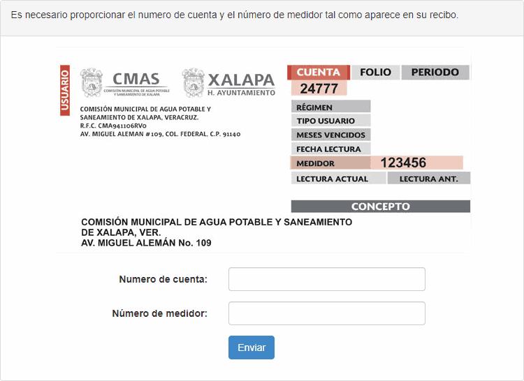CMAS consultar cuenta y medidor