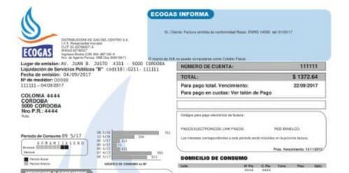 Estado de cuenta ECOGAS