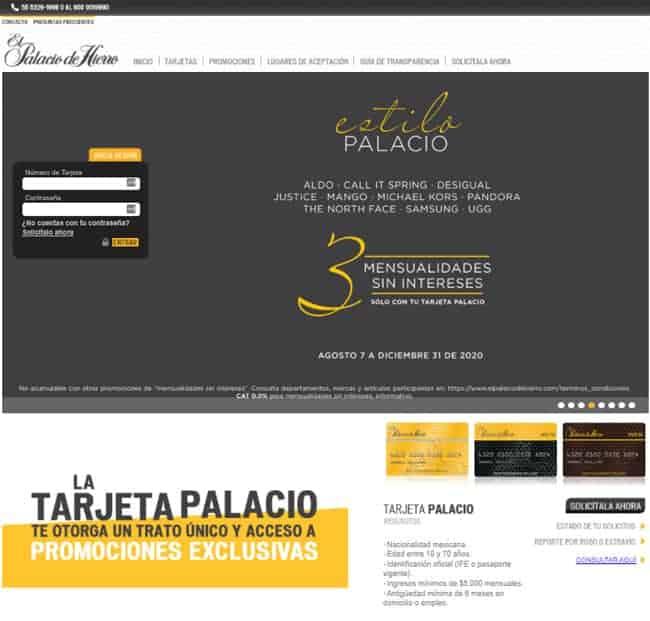 Pago en línea Palacio de Hierro