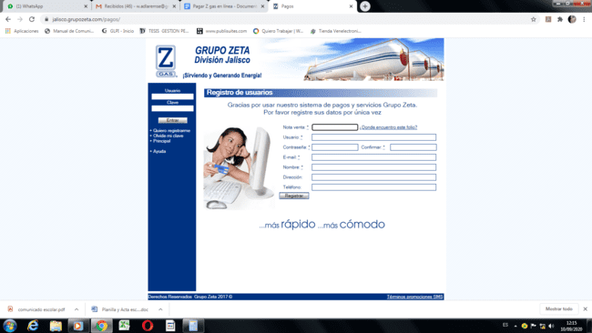 Z Gas web