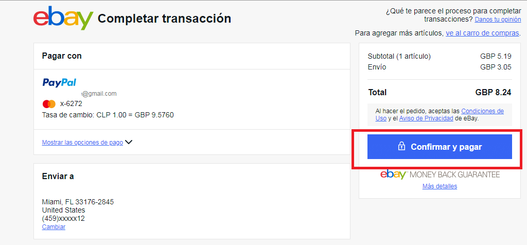 Confirmar Paypal