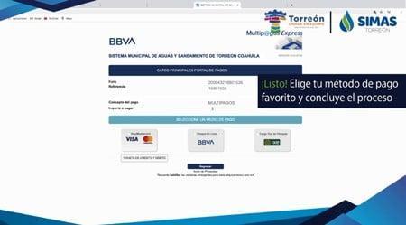 Método de pago online SIMAS