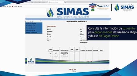 Pagar online SIMAs