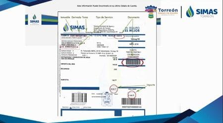 Recibo de pago SIMAS Torreón