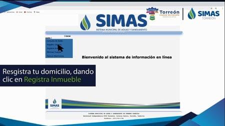 Registra inmueble SIMAS